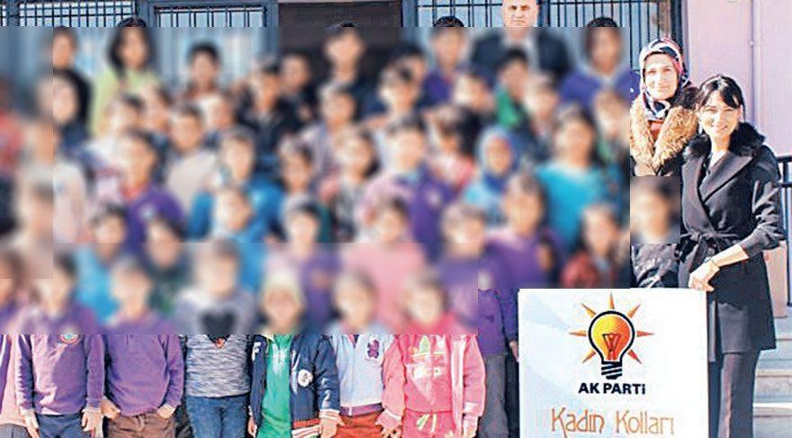 İlkokulda AKP propagandası!