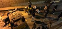 Son Dakika… Üsküdar'da bir taksi alt geçide düştü